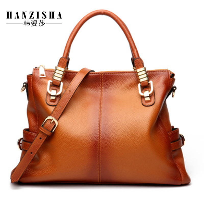 2018 Fashion Brand Bag Women Handbag Natural Leather Women Shoulder Bag Luxury Design Solid Large Capacity Casual Lady Tote Bag