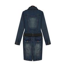 belt 2017 summer dress vestidos femininos women denim jeans dark blue midi big plus size 5XL American loose female clothing