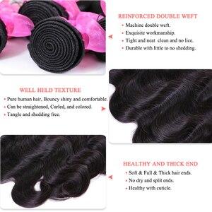Image 4 - Kraliçe saç resmi mağaza brezilyalı saç örgü demetleri ile kapatma 5x5 vücut dalga 100% insan bakire saç uzatma hızlı kargo