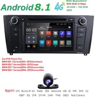 71 Din Android 8.1 Quad Core Car Radio GPS Navi Car DVD Player For BMW 1 Serie E81 E82 E87 E88 I20 2004 2011 Head Unit BT Wifi