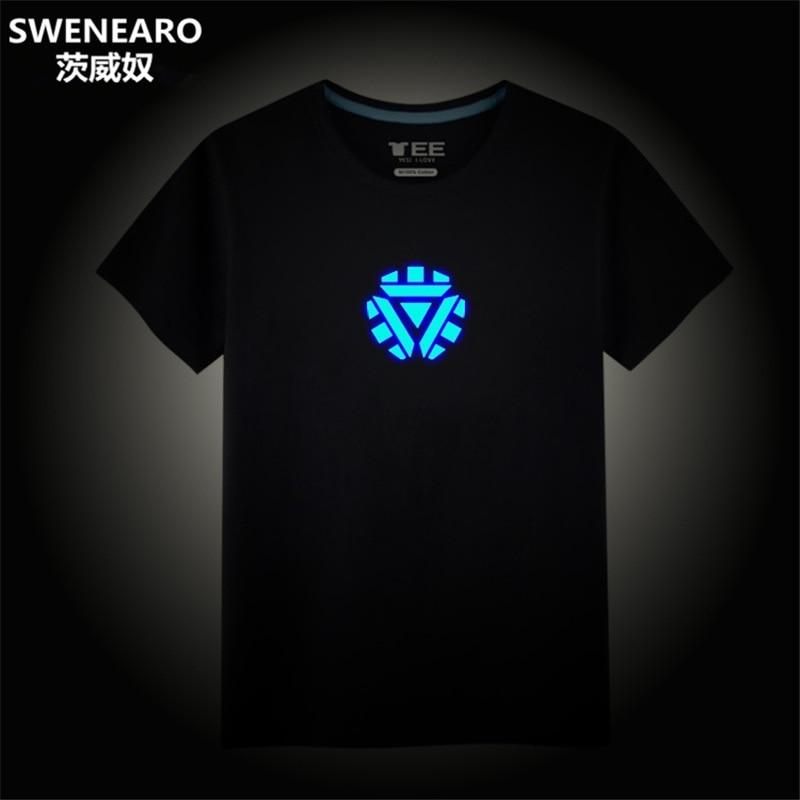 Avengers Endgame Anime Shirt Men Iron Man Summer Tony Stark Marvel Tshirt Tops Streetwear T Shirt Homme Clothing Black T-shirt