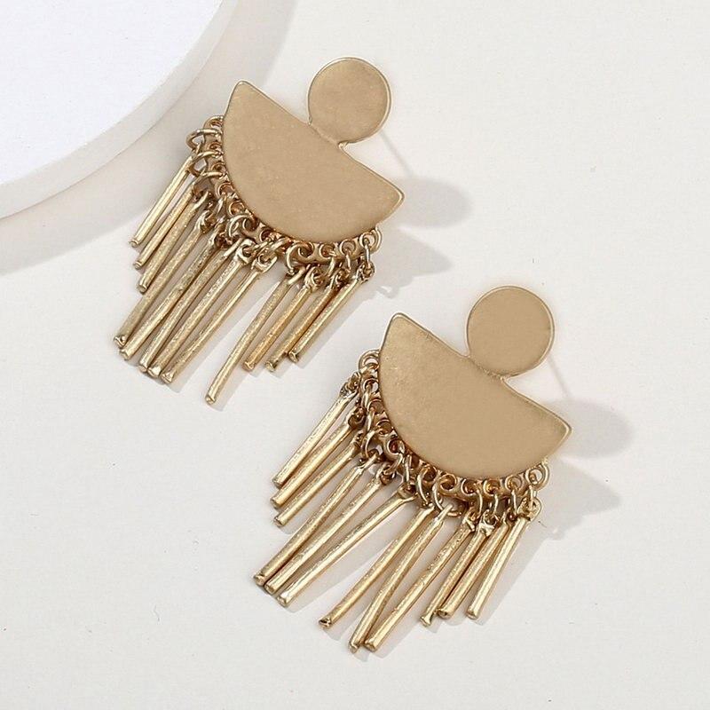 ZWPON 2018 Antique Gold Tassel Earrings Women Bar Chandelier Earrings  Fashion Jewelry Silver Statement Fringe Earrings Wholesale-in Drop Earrings  from ... fbd55a4ba39c