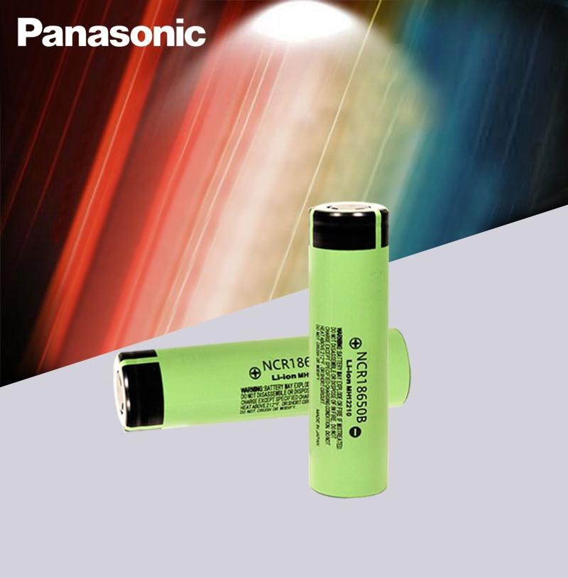 Tüketici Elektroniği'ten Yedek Piller'de 100% Yeni Panasonic Orijinal NCR18650B 3.7 v 3400 mah 18650 lityum şarj edilebilir pil El Feneri piller