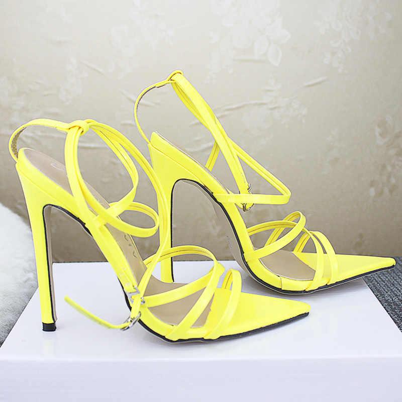 Yaz Kadın Sandalet Moda Kadın Ayakkabı Kadın Pompaları Seksi Yüksek Topuklu Ayakkabılar Kadın Sandalie Bayanlar Ayakkabı Sandalias Artı Boyutu 43