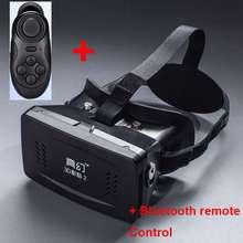 หัวหน้าเมารุ่นพลาสติก3D VRความจริงเสมือนแม่เหล็กแว่นตาG Oogleกระดาษแข็งสำหรับ3.5-6นิ้วมาร์ทโฟน+บลูทูธควบคุม