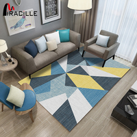 Miracille Large Size Carpets for Modern Living Room Soft Scandinavian Carpet for Study Room Floor Mat Non slip Bedside Rugs