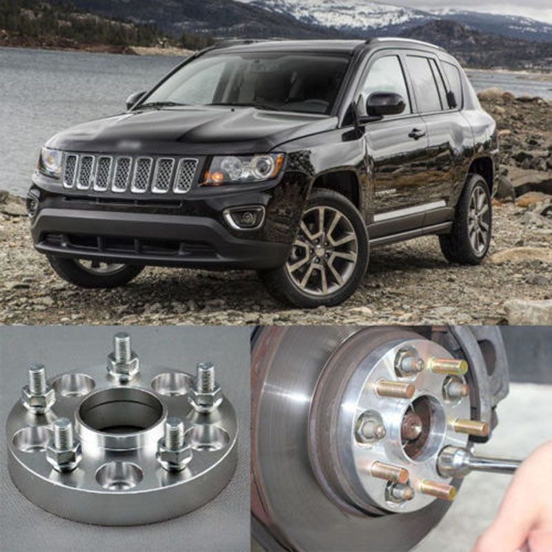 Teeze 4pcs Billet 5 Lug 12X1.5 Studs Wheel Spacers Adapters For Jeep Compass 2007-2018/Patriot 2011-2016 4pcs new billet 5 lug 14 1 5 studs wheel spacers adapters for volkswagen touareg