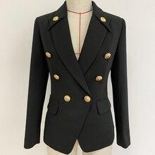 New Black Suit Women Blazer Jacket Americana Notched Neck De