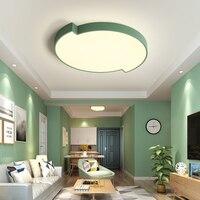 New LED Modern Acrylic Alloy Pink Blue Green Round LED Lights LED Lights Ceiling Light LED