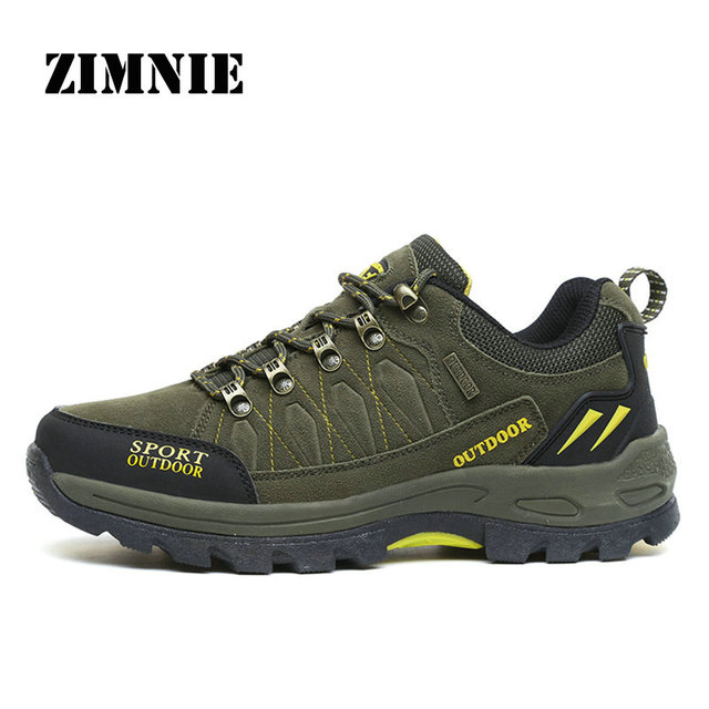 ZIMNIE Brand Outdoor Venture Men Climbing Hiking Shoes Women Breathable Ventilator Hunting Trekking Sport Shoes Big Size 36~47