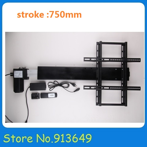 все цены на Remote control linear actuator with mounting brackets tv lift system -stroke 750mm-1set онлайн