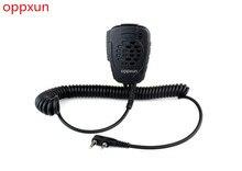OPPXUN Mini Speaker Mic Waterproof Handheld Microphone for Kenwood TK3107 3207 BAOFENG UV-5R Walkie Talkie