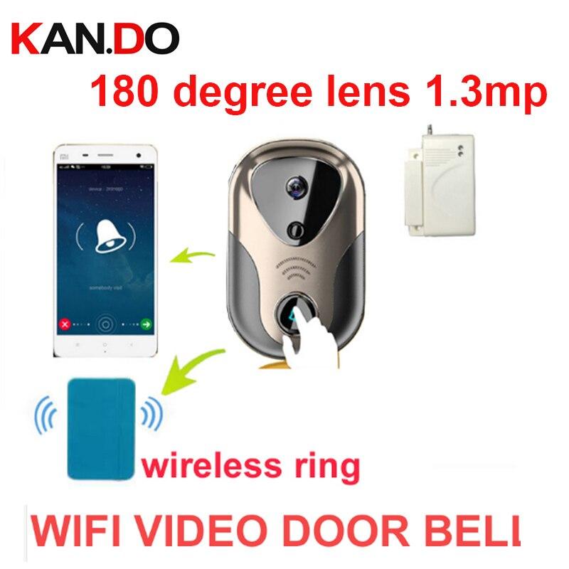 180 degree 1.3mp Video Door Intercom camera WiFi IP Camera video Doorbell wifi camera video Intercom WiFi Bell video door camera стоимость