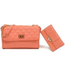 Sholder bolso y monedero 2 unids set bolsos de Las Mujeres de LA PU Causales de cuero Famosa Marca de Moda Bolsos de Las Señoras de bolsos de Diseño de Calidad Bo