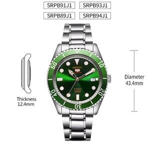 Image 5 - Reloj de hombre SEIKO 5 100% Original, reloj deportivo automático mecánico de 10 Bar resistente al agua SRPB94/91/89/93J1 de acero inoxidable