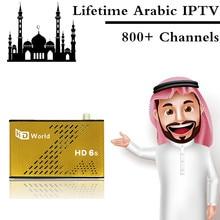 Membresía de por vida HD-F6 Árabe IPTV DVB-S2 Receptor de Satélite Receptor IPTV Canales En Vivo 1000 adultos XXX mejor que Gran Abeja