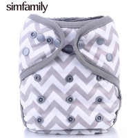 Simfamily New Arrival 1PC Washable Cloth Diaper Cover Adjustable Double Gusset Reusable Fralda Bebek Nappy