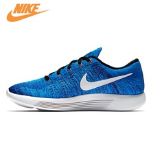 Original New Arrival Authentic Nike Flyknit LUNAREPIC 8 Weaving Men's Light Running Shoes Sneakers Trainers