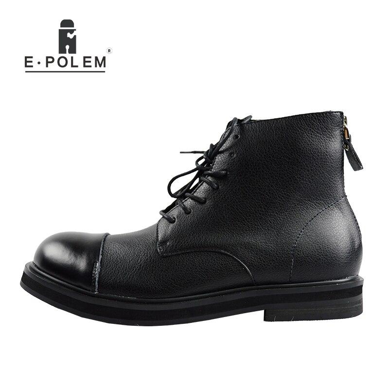 Ankle Homens Casuais Até Nova Couro New Chegada 2017 De England Boots Inverno Outono Sapatos Rendas Dos Botas xH0wgqgOt