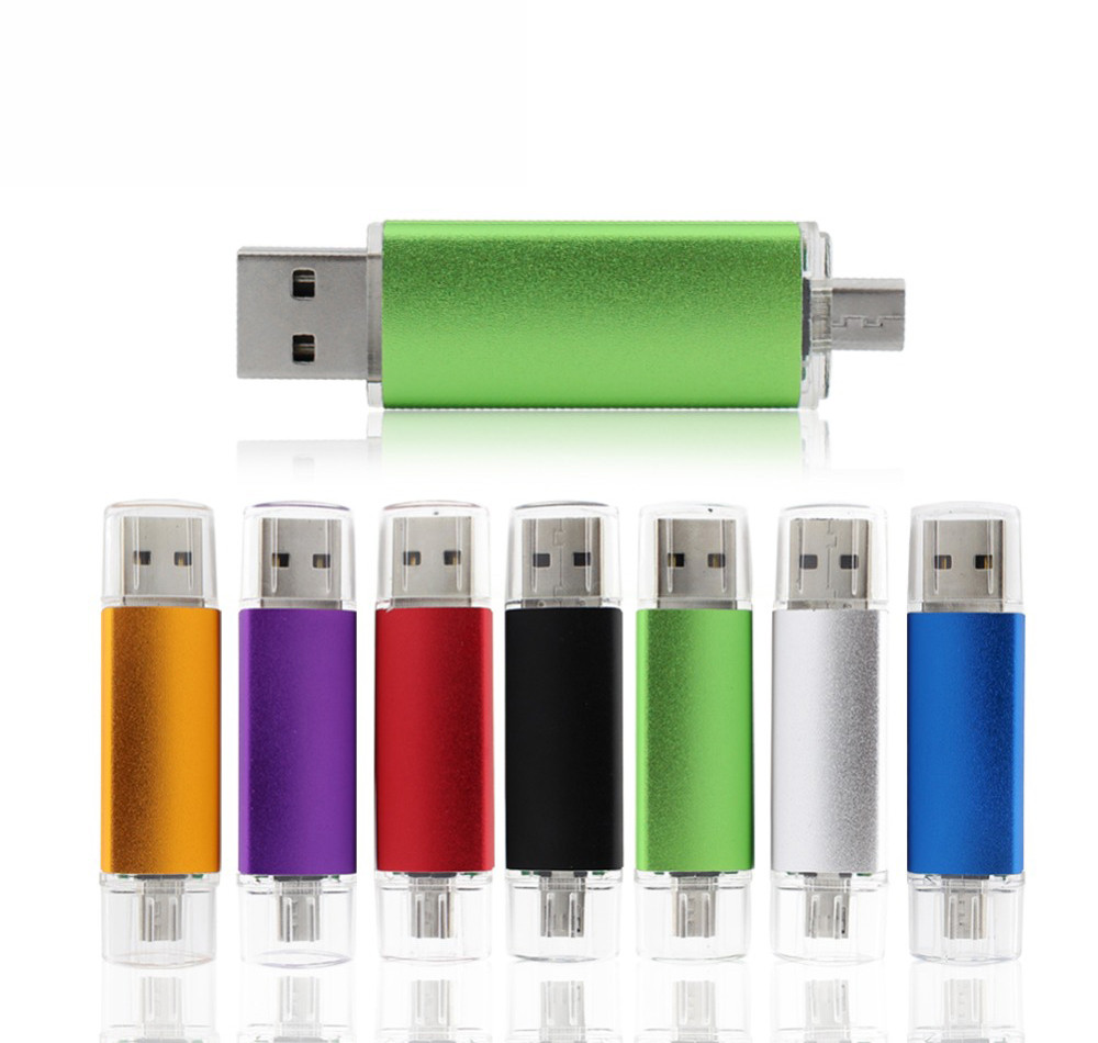 New Usb 2.0 OTG USB flash drive for SmartPhone/Tablet/PC 8GB 16GB 32GB 64GB 128GB Pendrive High speed pen drive package