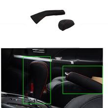Автомобиль ручной тормоз Шестерни Наборы для ухода за кожей натуральная кожа куртка Автоматическая шить-на изменение кожаный чехол для Mitsubishi ASX 2013 2014 2015 2 шт.
