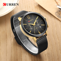 CURREN Luxury Brand Men Sport Watches Men's Digital Quartz Clock Stainless Steel Waterproof Wrist Watch relogio masculino 8313 2