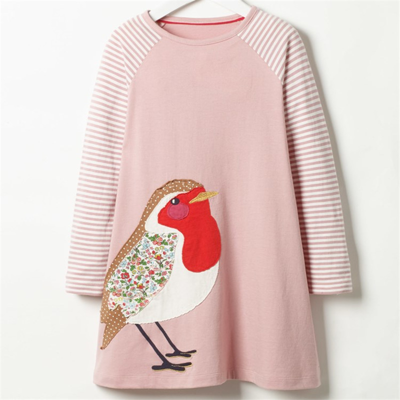 Jumping meters Long Sleeve Dress striped Casual Cotton clothes Toddler Kid Girls Spring Autumn Winter font