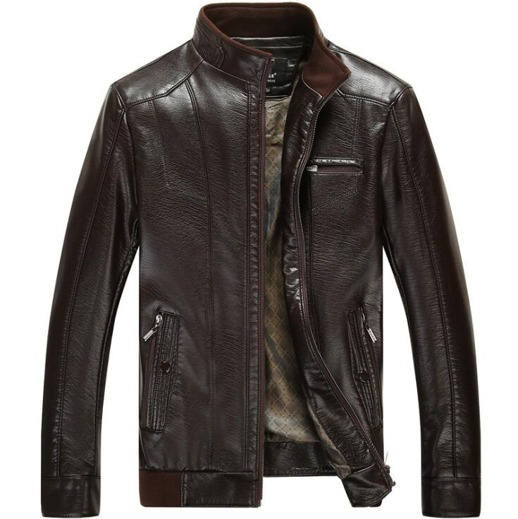 Mens sheepskin slim leather clothes 2018 New Spring and Autumn Brand Mens Genuine Leather jacket Men Business Casual jackets