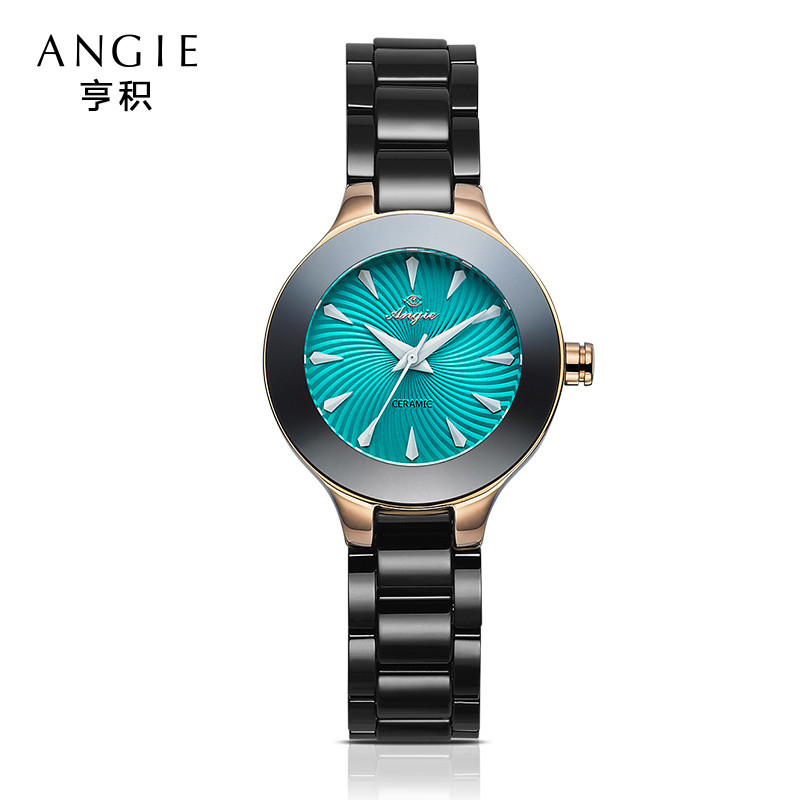 ФОТО Alibab 2016 Women Dress Watches Ceramic Men Luxury Brand Rose Gold Women Watches Casual Ladies Watches Quartz Christmas Gift B25