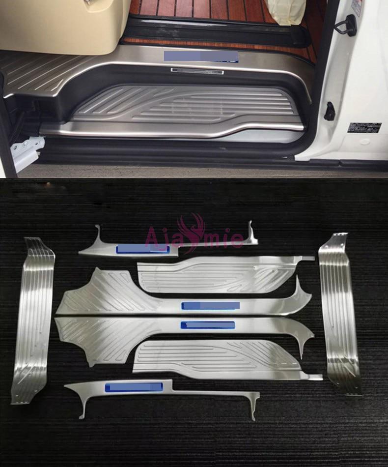 #304 acier inoxydable seuil de porte pare-chocs plaque Kit garniture voiture style pour 2016 2017 2018 2019 Toyota Alphard 30 accessoires