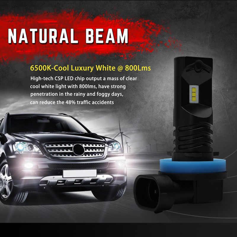 NOVSIGHT One pair 1600LM 6500K H1 H11 LED Car Lights Bulbs H3 H7 Daytime Running Lights Cool White Fog Lamps Bulbs plug and play