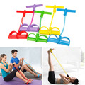 2-Tube Foot Pedal Pull Rope Resistance Exercise Sit-up Thin Waist Yoga Fitness