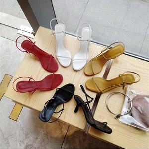 Image 4 - Доставка в доставку в течение 3 дней, Новинка Лето 2019, женские пикантные сандалии на высоком каблуке