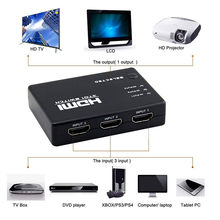 Soonhua 3 Port HDMI Switcher 3 In 1 Out Switch Splitter untuk HDTV DVD Xbox 360 1080 P Full HD video Adapter dengan Remote Control(China)