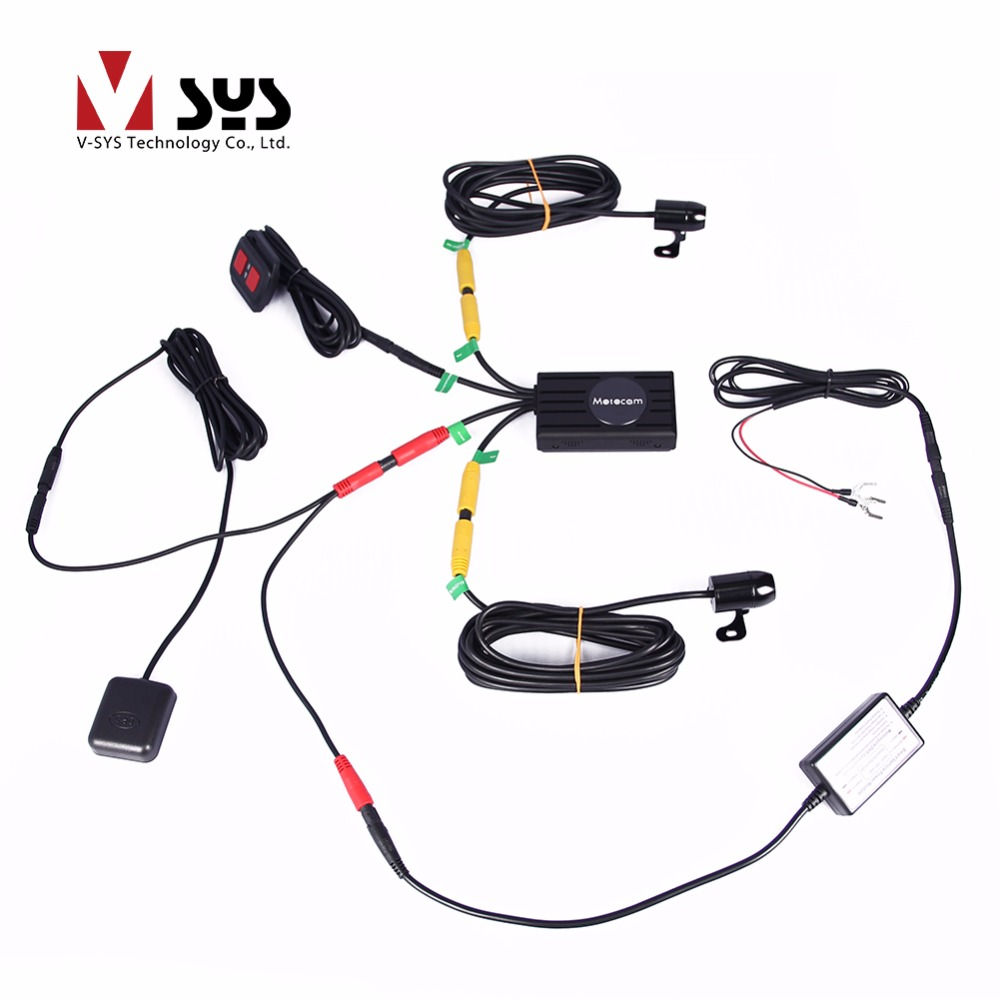 Vsys hot selling X1F X2 upgraded option M2F WIFI motorcycle DVR bike ...