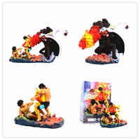Anime One Piece The Death Of Ace Luffy VS Sakazuki Figure Model Toy PVC action figure Collectible kids Toys Gift