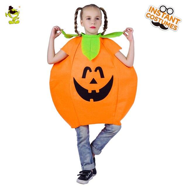 2018 new kids halloween costume pumpkin cosplay outfit for girls toddler halloween dress cute children clothing