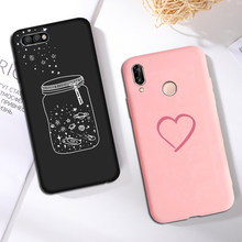 Funda de silicona para huawei Honor 8 9 10 20 Lite 8x 9x Love funda de moda Simple para huawei P20 P30 lite P smart 2019 amigo 20 lite(China)