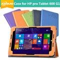 """Новый Оригинальный Кожаный Чехол Для HP Pro Tablet 608 G1 7.9 """"таблетки, Чехол Для HP Pro Tablet 608 G1 Z8500 Бесплатная Доставка И Подарок"""