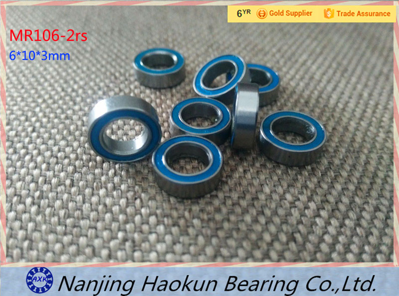 2017 Sale New Arrival Steel Thrust Bearing Rodamientos 4pcs 6x10x3 Blue Rubber Bearings Abec-3 Mr106 2rs free shipping 1 2x3 4 x5 32 blue rubber bearings abec 3 r1212 2rs motor bearing model bearing 12 7x19 05x3 969mm