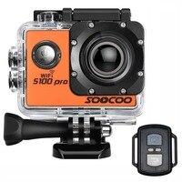 4 К WI FI Спорт действий Камера soocoo на S100 Pro HD Водонепроницаемый видеокамера 20mp 170 градусов Широкий формат 2 дюймов ЖК дисплей 2.4 ГГц удаленного