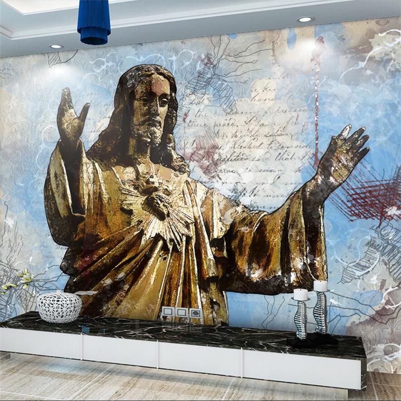 Beibehang Nordic Abstract Jesus Savior Hand Painted