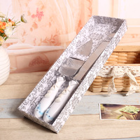 2017 Sale Wedding Favors And Gifts Free Shipping Personalized Starfish Beach Wedding Cake Knife Serving Set