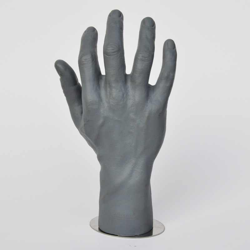 New Liglamorous 1Pc Men Mannequin Hands Arms Display Bendable Poseable  Gloves Jewelry Flexible Soft Material Gray Model 11inch