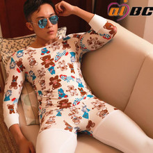 New AIBC mens long johns set cotton legging autumn and winter thermal underwear Long Johns
