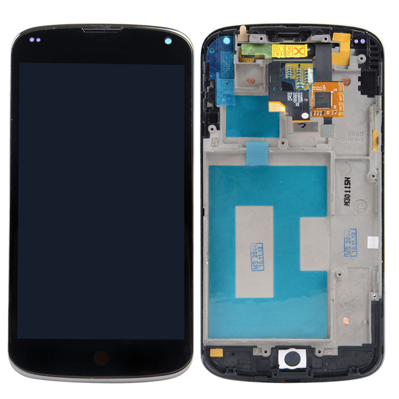 New 4 6 LCD Display Touch Digitizer Frame Screen For LG Google Nexus 4 E960 VA233