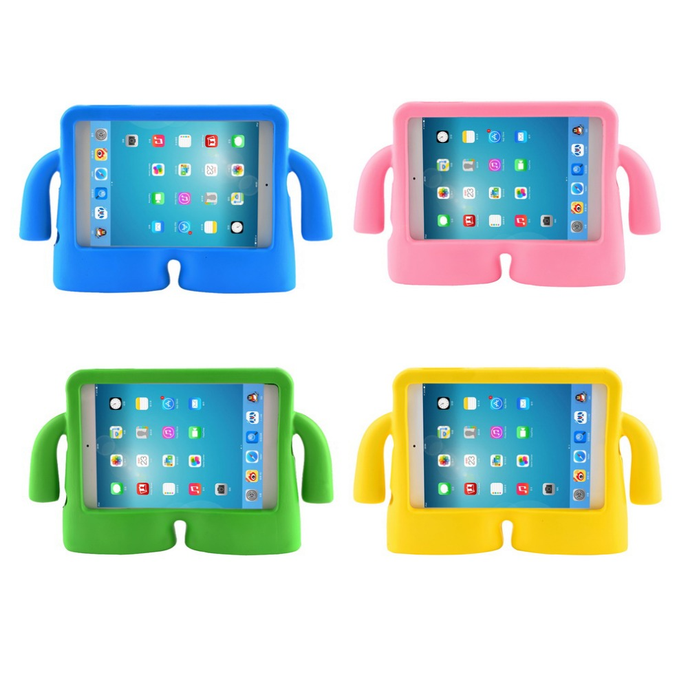 Children Laptop Case For Ipad Mini 2 EVA Protective Cover Shockproof Kids Handle Holder Cover For Apple Ipad Notebook