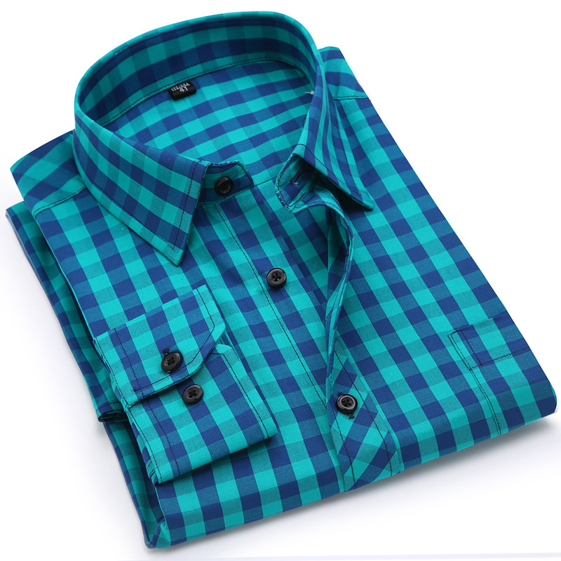 Confident 2018new High Quality Pure Cotton Soft Breathable No Fade No Shrink Regular Fit Long Sleeve Classical Male Plaid Casual Shirts