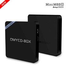 S905X DMYCO-BOX Mini M8S II Android 6.0 TV Box Amlogic 2 GB 8 GB Quad-core 2.4 GHz WiFi Bluetooth Inteligente Media Player Set Top Box