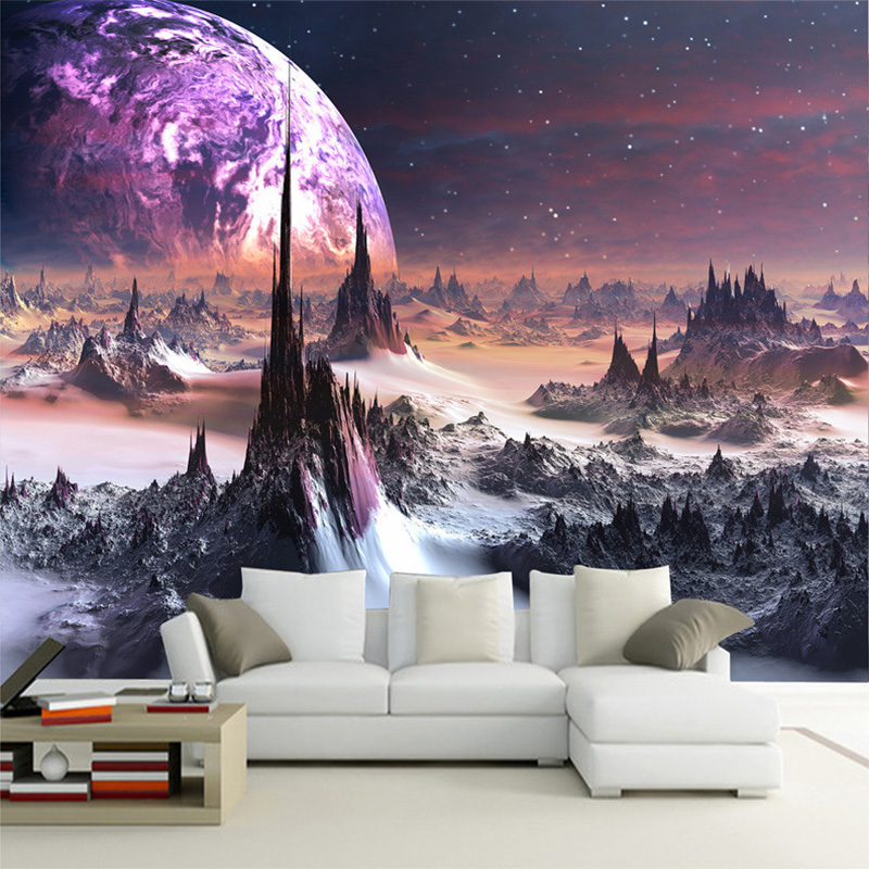 Personalized Customization Star Universe Photo Wallpaper 3D Stereo Embossed Modern Decor Wall Mural Wallpaper Papel De Parede 3D